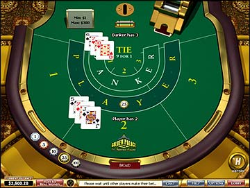 Play Baccarat at Golden Palace Casino