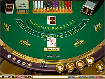 Play blackjack online at Golden Palace Casino
