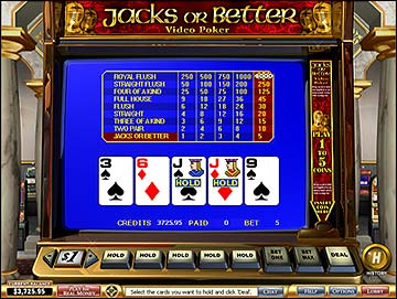 Play Video Poker at Golden Palace Casino